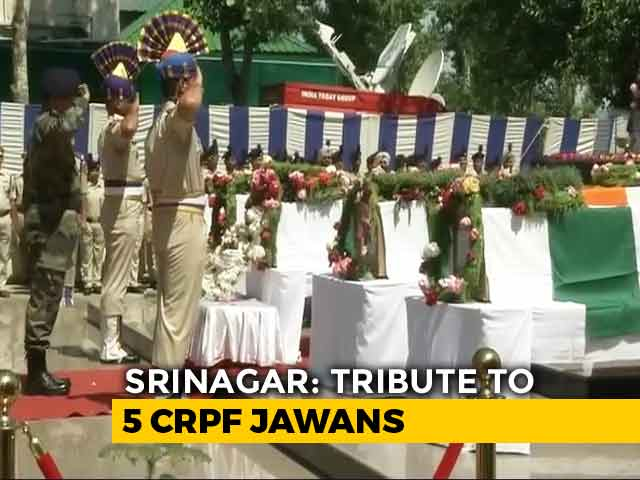 Video : CRPF Pays Tribute To Soldiers Killed In Anantnag Terror Attack