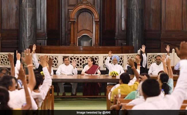 कांग्रेस संसदीय दल का नेता चुने जाने के बाद सोनिया गांधी ने की राहुल की तारीफ