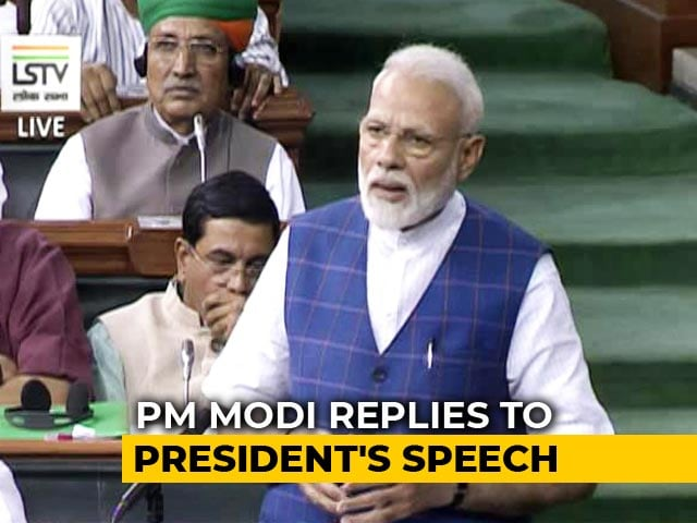 "Video : ""Strong Mandate In This Election,"" Says PM Modi In Parliament"