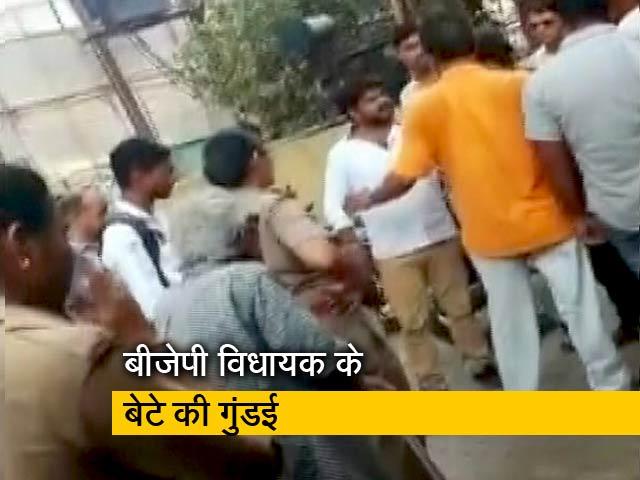 Video : कासगंज में बीजेपी विधायक के बेटे ने थाना प्रभारी को दी धमकी