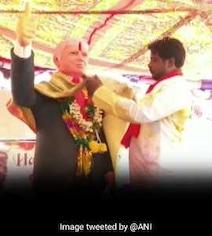 Six-Foot Statue, Garlands: Telangana Man's Tribute To Trump On Birthday