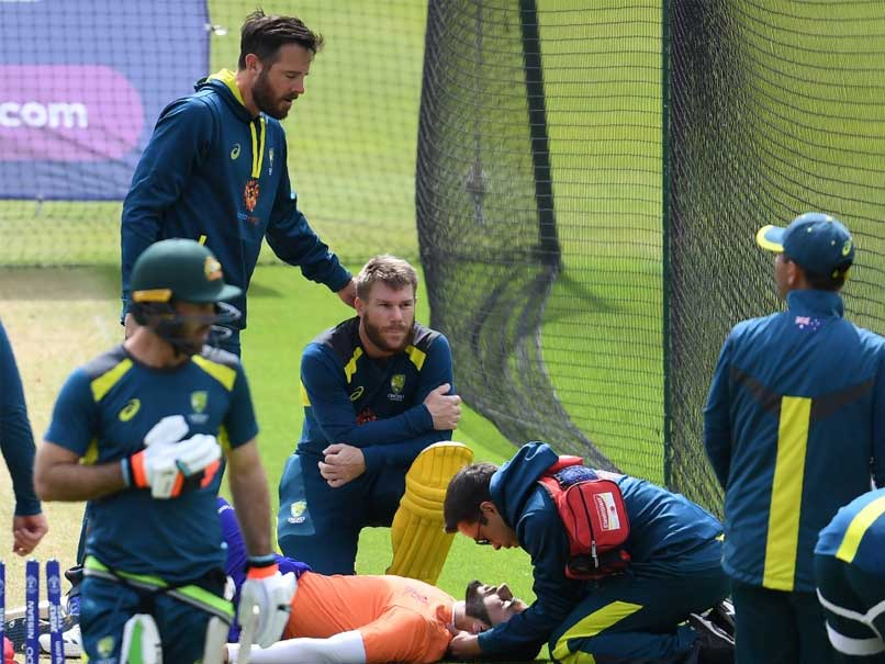 "David Warner ""Shaken Up"" After Hitting Net Bowler On Head In World Cup Practice"