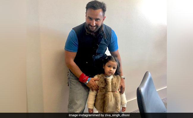 भारत ने पाकिस्तान को हराया, तो जीवा ने सैफ अली खान के साथ खूब की मस्ती - देखें Video