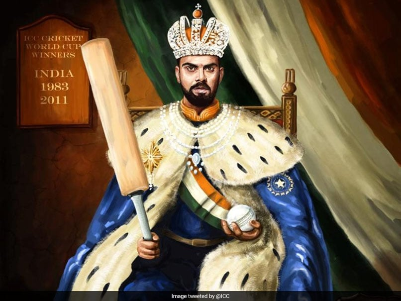 World Cup 2019: ICC posts illustration of virat kohli on throne,Fans unhappy