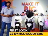 Video: 22 Kymco Scooters First Look