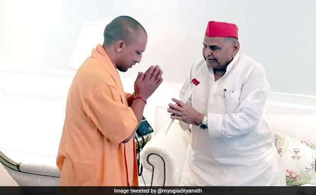 Yogi Adityanath Meets Mulayam Singh, Enquires About His Health