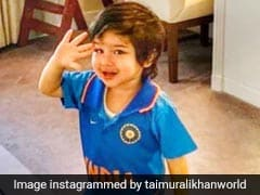 वर्ल्ड कप मैच में भारत ने पाकिस्तान को दी शिकस्त तो तैमूर अली खान ने यूं मनाया जश्न, देखें Photo