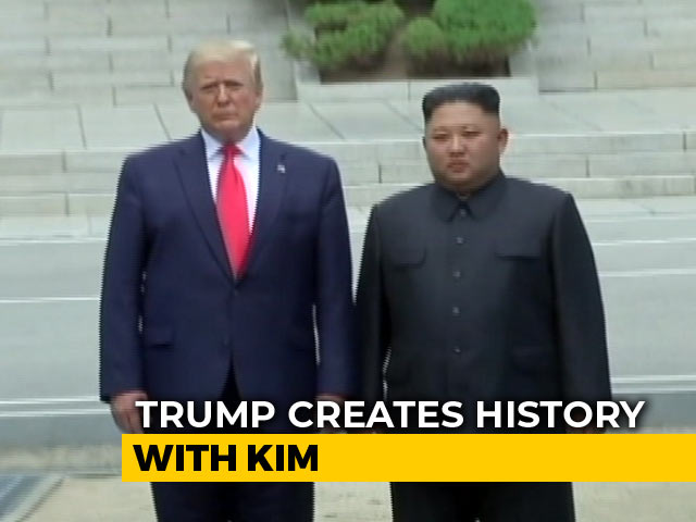 Video : Trump Meets Kim Jong Un In North Korea After Crossing Demilitarised Zone