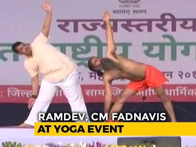Video : International Yoga Day: Baba Ramdev Leads Thousands In Yoga Day Event In Nanded