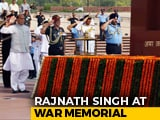 Video : Rajnath Singh Visits War Memorial Before Taking Over As Defence Minister