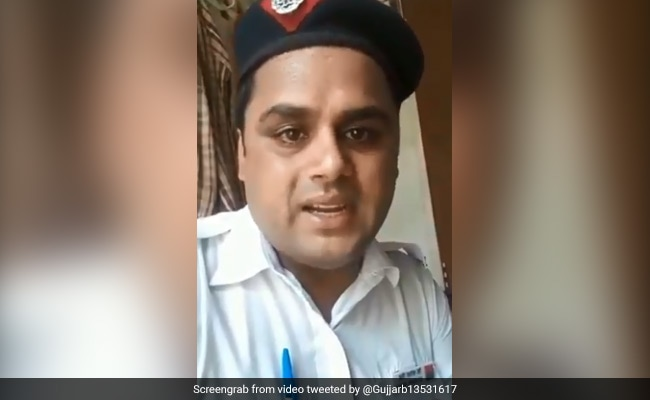 Delhi Traffic Cop In Viral Video Alleges Harassment By Seniors