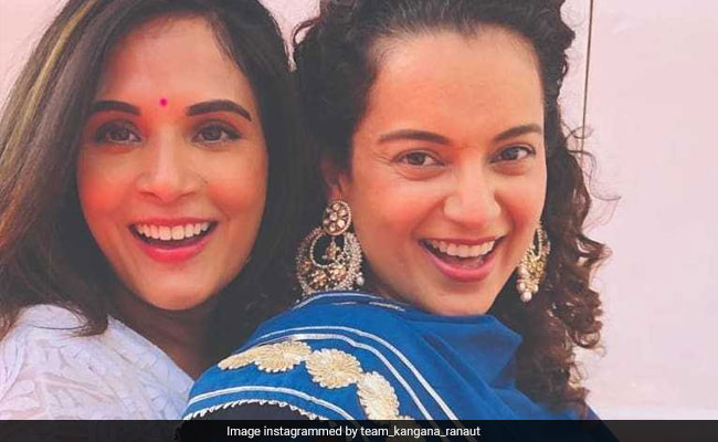 Inside Kangana Ranaut And Richa Chadha's Eid Celebrations On The Sets Of Panga