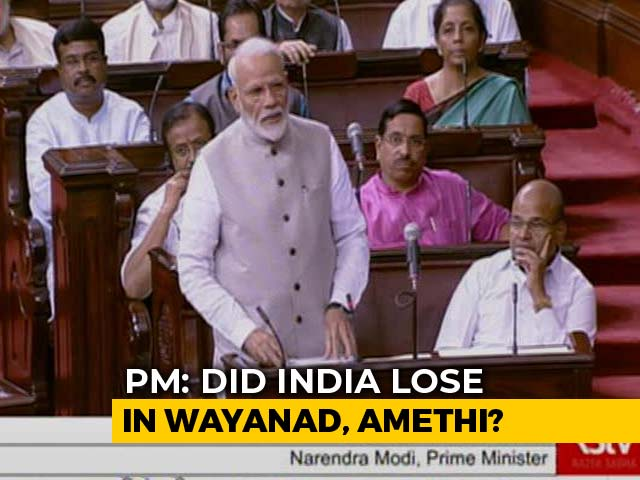 "Video : PM Modi Slams Congress ""Arrogance"", Says ""Did India Lose In Wayanad?"""