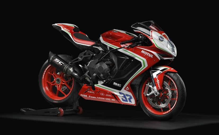 The MV Agusta F3 800 RC is about Rs. 4 lakh more expensive than the regular F3 800