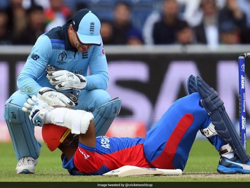 ENG vs AFG: मार्क वुड के बाउंसर पर चोटिल हुए अफगान बल्लेबाज हशमतुल्लाह, फिर यूं किया पलटवार..