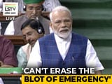 "Video : ""India's Soul Was Crushed"": PM Modi Talks About Emergency In Parliament"
