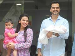 Esha Deol And Bharat Takhtani Take Baby Miraya Home. See Pics