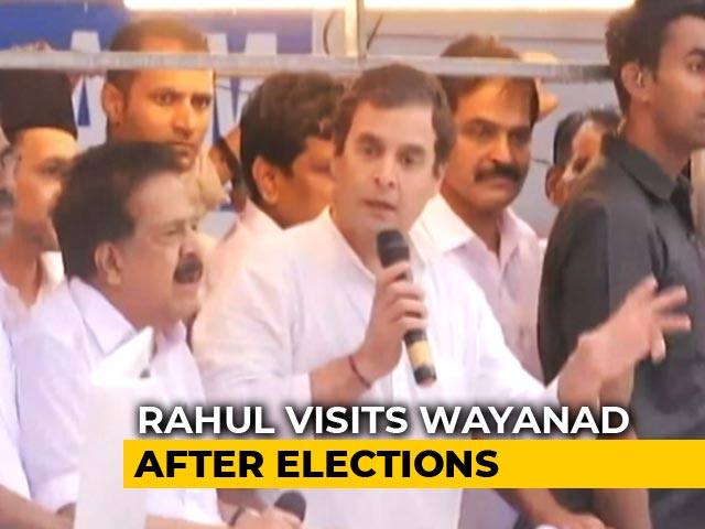 "Video : Rahul Gandhi Greeted With ""Need You"" Posters On Post-Poll Wayanad Trip"