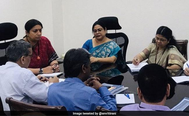Smriti Irani Takes Charge Of Women And Child Development Ministry