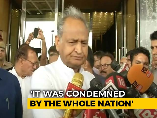 Video : Ashok Gehlot's Clarification After Chargesheet Names Man Killed By Mob