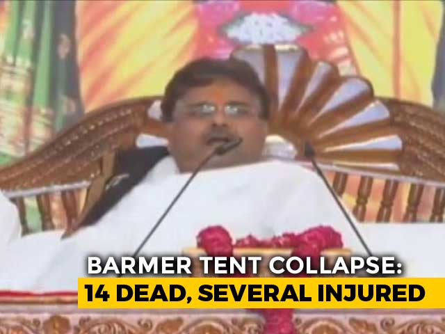 """Video : """"Get Out, It's Falling"""": Rajasthan Tent Collapse Caught On Video"""