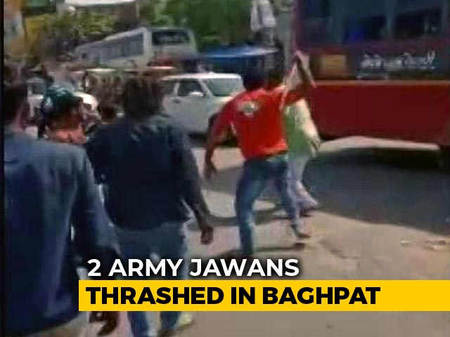 Video : 2 Army Jawans Brutally Thrashed In UP's Baghpat On Video