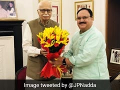 BJP Working President JP Nadda Meets Ex-Party Chiefs