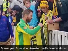 Watch: David Warner Gifts Young Australian Fan Man Of The Match Award After World Cup Hundred
