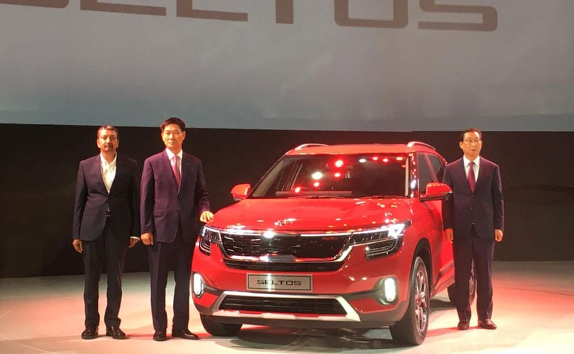 Kia Seltos: Manohar Bhat, VP, Sales, Kookhyun Shim, MD CEO Kia India and Haan Woo Park President Kia