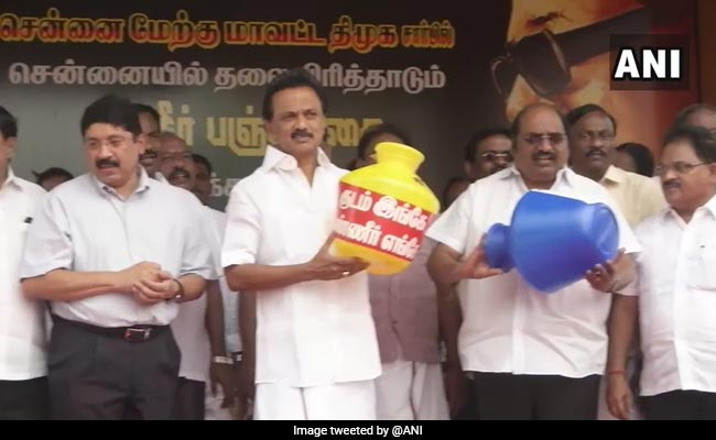 'Water Famine In Tamil Nadu': MK Stalin Leads Protest Against Government