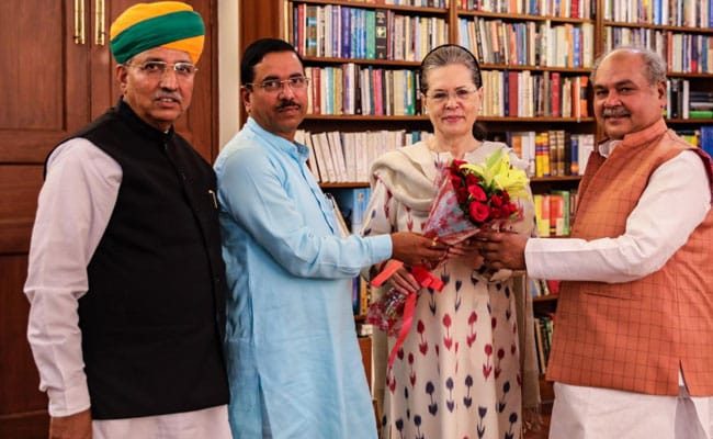 Parliamentary Affairs Minister Pralhad Joshi Meets Sonia Gandhi