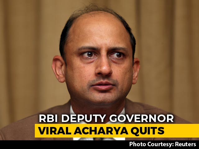 "Video : RBI Deputy Governor Viral Acharya Quits, Cites ""Personal Circumstances"""