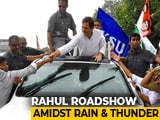 Video : Unfazed By Rain, Rahul Gandhi's Supporters Cheer For Him In Kerala
