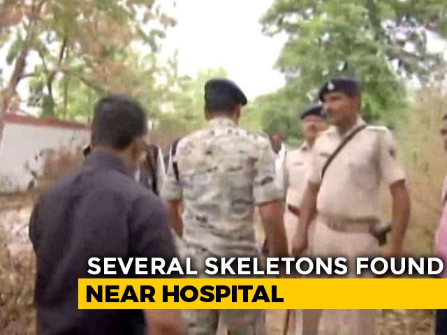 Video : Human Skeletons Found Dumped Near Hospital In Bihar's Muzaffarpur