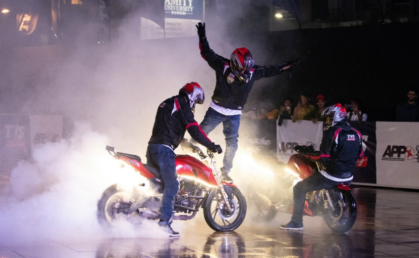 TVS sets a new record for longest non-stop bike stunt performance