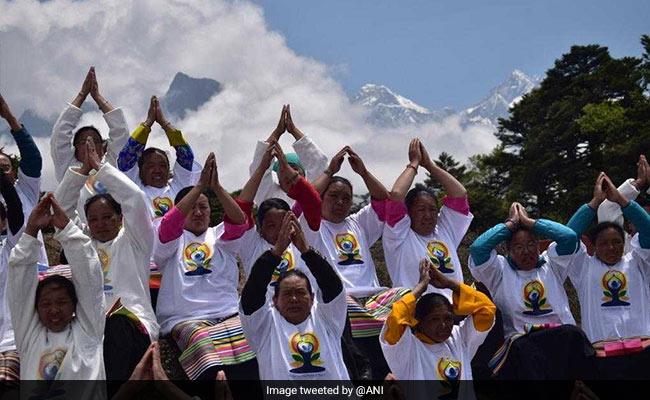 Indian Embassy In Kathmandu Celebrates Yoga Day