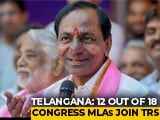 Video : Congress Dissolves In Telangana, 12 Of 18 Lawmakers Join KCR