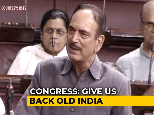 "Video : ""Don't Want New India, Give Us Old India"": Ghulam Nabi Azad's Dig at BJP"