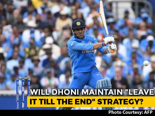 "Video : Will MS Dhoni Maintain ""Leave It Till The End"" Strategy Against West Indies?"