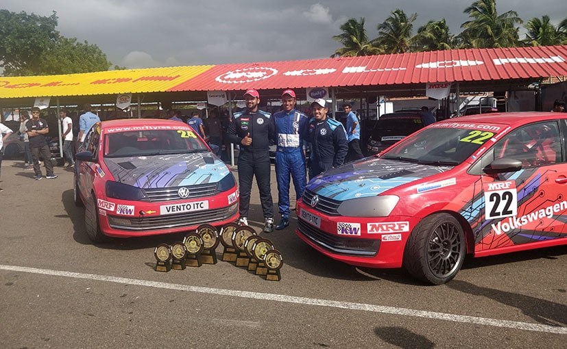 Volkswagen took all 3 spots on the podium with drivers Karthik Tharani, Dhruv Mohite and Ishaan Dodhiwala