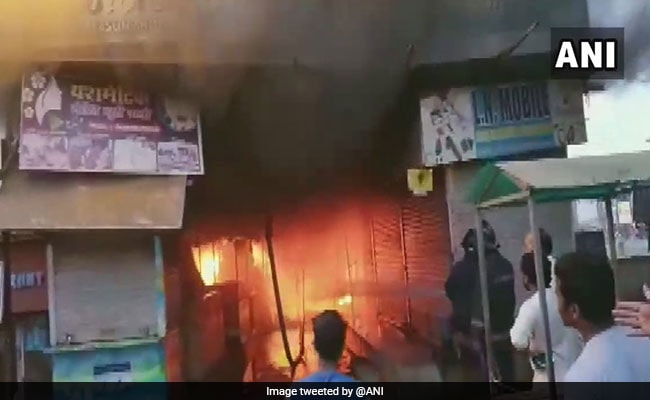 Fire Breaks Out At Market In Maharashtra's Palghar, Shops Burnt