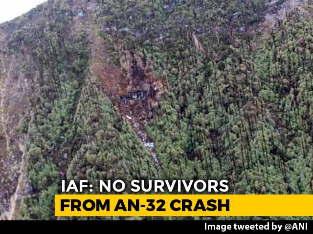 "Video : ""No Survivors"" From Crashed An-32 Aircraft, Says Air Force"