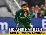 Video : India vs Pakistan: Mohammad Amir Warned Twice For Running On Pitch