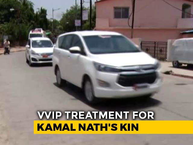 Video : For VIP Temple Visit By Kamal Nath's Relatives, 6-Car Convoy, Ambulance