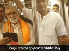 Ashwini Choubey Assumes Charge Of Health Ministry; Takes Metro Ride To Work