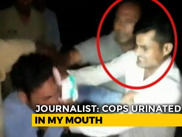 "Video : ""Urinated In My Mouth"": UP Journalist Thrashed By Railway Cops On Video"