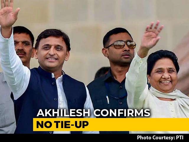 "Video : ""So Be It"": Akhilesh Yadav Reacts After Mayawati Puts Gathbandhan On Hold"