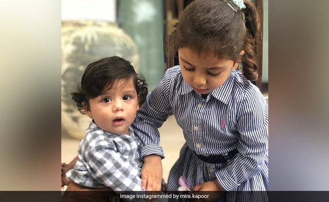 Shahid Kapoor And Mira Rajput's Kids Misha And Zain Are Setting 'Sibling Goals'