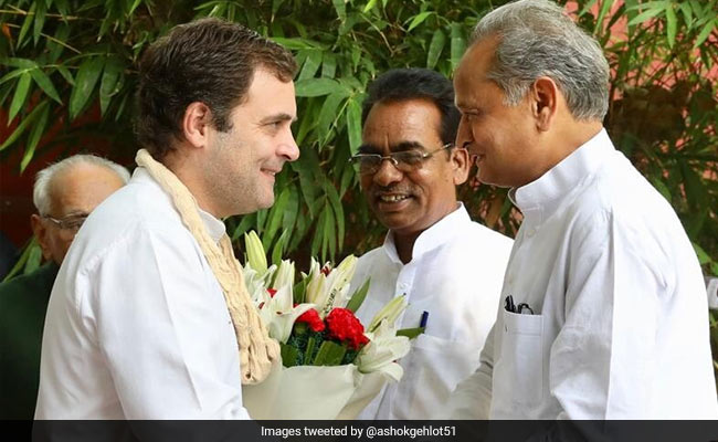 Remain The Congress Chief, Ashok Gehlot Tells Rahul Gandhi