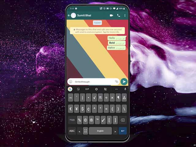 Video : How to Send WhatsApp Messages in Bold, Italics, Strikethrough, and Monospace